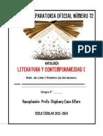 Antología Literatura y Contemporaneidad I