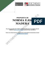 Propuesta de Norma E.010 Madera 2018