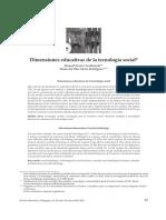 Dimensiones educativas de la tecnología social