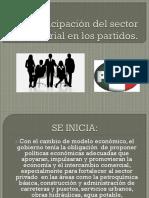 Participación del sector empresarial en los partidos