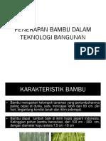 Penerapan Bambu Dalam Teknologi Bangunan