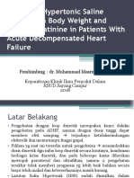 Effects of Hypertonic Saline Solution on Body Weight Jurnal