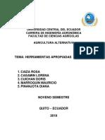 Monografia herramientas alternativas para agricultura alternativa