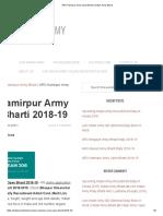 ARO Hamirpur Army Open Bharti - Indian Army Bharti