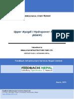 Hydrological Study of Upper Myagdi