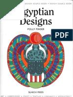 Egyptian Designs Coloring Book