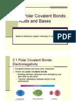 Polar Bond and Acid_base