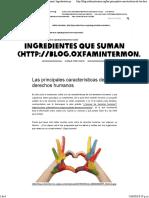 Las Principales Características de Los Derechos Humanos - Ingredientes Que Suman