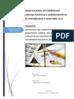 ENSAYO 5. Importancia Del Comercio Exterior Para El Presupuesto General Del Estado Con Un Análisis de Los Convenios Internacionales Más Beneficiosos Para El Ecuador.