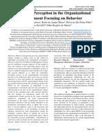 Stakeholder Perception in the Organizational Environment Focusing on Behavior