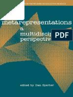 Dan Sperber Metarepresentations a Multidisciplinary Perspective