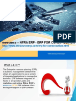 Why NFRA ERP for Construction Industry