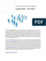 Type of Sales Organization e28093 Line Sales Organization