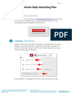 Pinterest - 5 Minute Daily Marketing Plan v1.3