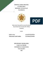 Proposal Kerja Praktek PT Pertamina RU III Plaju - Teknik Kimia UGM