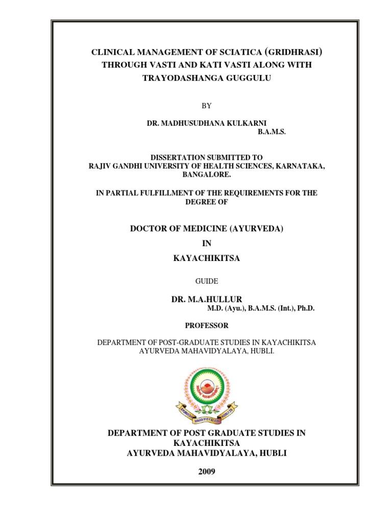 ayurvedic thesis on asthi kshaya