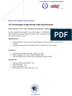 1X Technologies  Belden 9451P Cable Equivalent - 1XB9451PEQ - Engineering Cable Specification English PDF