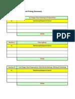 Machinery Summary Workbook