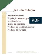 Capitulo I (Medidas de Tendencia Central e Variacao)