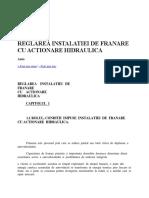 Reglarea Instalatiei de Franare Cu Actionare Hidraulica