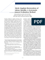Fixed Prosthetic Implant Restoration of the Edentulous Maxilla a Systematic Pretreatment Evaluation Method_Jan_2008