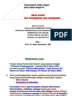 Masa Depan Organisasi Kecamatan Dan Kelurahan