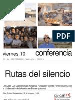 Conferencia rutas silencio