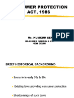 8827 Consumer Protection Act, 1986