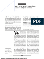 Comparison of Absorbable With Nonabsorbable Sutures in Closure of Facial Skin Wounds