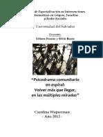 Wajnerman, C. - Psicodrama Comunitario en Espiral - USAL