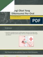 Cherl Alergi Obat Yang Dikonsumsi Per-Oral