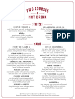 Café Rouge Travelzoo menu