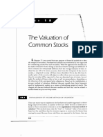 The Valuation of Common Stock