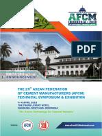 First Announcement Afcm