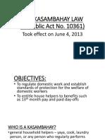 The Kasambahay Law (Republic Act No