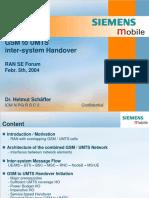 GSM to UMTS Inter-system Handover