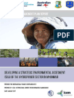 Developing a Strategic Environmental Assessment (SEA) of the Hydropower Sector in Myanmar