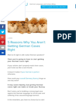 5 Reasons Why You Aren't Getting German Cases Right | FluentU German