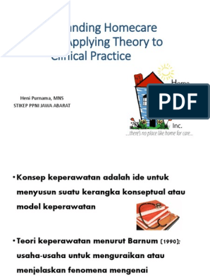 teori keperawatan dan aplikasi dalam homecare behavioural sciences psychology cognitive science free 30 day trial scribd scribd