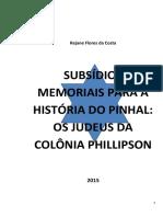 Subsídios Memoriais Para a História Do Pinhal Os Judeus Da Colônia Phillipson