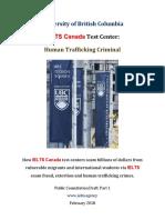 University of British Columbia Human Trafficking Crimes