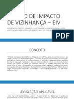 Estudo de Impacto de Vizinhança – Eiv