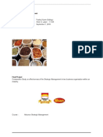 Strategic Management Comparision of Shan Foods  and National Foods