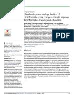 The Development and Application of Bioinformatics Core Competencies to Improve Bioinformatics Training and Educatio