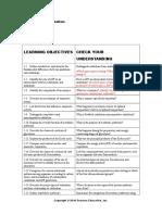 Chapter 5 Summary-objectives