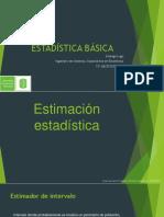 Sexta Clase Estadística Básica UIS Estimación Puntual y Por Intervalos
