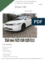 Honda Civic LXS 2007 Branco, 2007 - Carros - Bela Vista, Caxias Do Sul 435001908 _ OLX