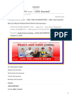 Poland Work Permit Visa From Bangladesh - By Flyyeer.com- ভিসা ২০১৮ 100 Percent Success