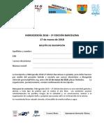 HIDROGEODIA 2018 - Inscripción
