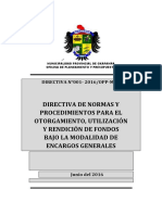 DIRECTIVA- ENCARGOS